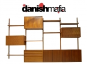 MID CENTURY DANISH MODERN POUL CADOVIUS WALL SYSTEM