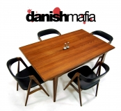 MID CENTURY DANISH MODERN JOHANNES  ANDERSEN DINING TABLE