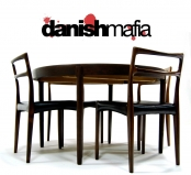MID CENTURY DANISH MODERN JOHANNES ANDERSEN ROSEWOOD DINING CHAIRS