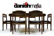 MID CENTURY DANISH MODERN ROSEWOOD DINING CHAIRS