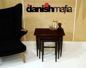 MID CENTURY DANISH MODERN ROSEWOOD NESTING TABLES