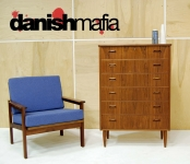 MID CENTURY DANISH MODERN TEAK BEDROOM DRESSER CHEST