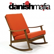 MID CENTURY DANISH MODERN ROCKING CHAIR