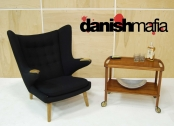 MID CENTURY DANISH MODERN TEAK TEA SERVING CART