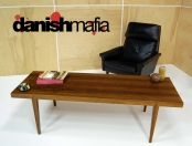 ORIGINAL VINTAGE HASLEV MID CENTURY DANISH MODERN ROSEWOOD SOFA COFFEE TABLE