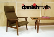 ORIGINAL VINTAGE 60′s MID CENTURY DANISH MODERN TEAK LOUNGE SIDE CHAIR EAMES