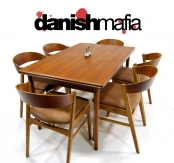 MID CENTURY DANISH MODERN TEAK DINING SET TABLE & 6 CHAIRS EAMES ERA