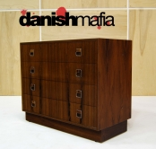 MID CENTURY DANISH MODERN ROSEWOOD CREDENZA DRESSER ENTRY CHEST EAMES