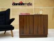 MID CENTURY DANISH MODERN ROSEWOOD CREDENZA SIDEBOARD ENTRY CHEST CONSOLE EAMES