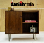 MID CENTURY DANISH MODERN ROSEWOOD CREDENZA SIDEBOARD BUFFET ENTRY CHEST EAMES
