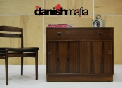 MID CENTURY DANISH MODERN ROSEWOOD CREDENZA SIDEBOARD DRESSER ENTRY CHEST EAMES