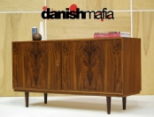 MID CENTURY DANISH MODERN ROSEWOOD CREDENZA SIDEBOARD