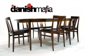 MID CENTURY DANISH MODERN ROSEWOOD DINING CHAIRS SET of 6 Linde Nilsson EAMES