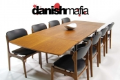 MID CENTURY DANISH MODERN TEAK DINING COMPLETE SET TABLE & 8 CHAIRS EAMES ERA