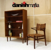 MID CENTURY DANISH MODERN MOGENSEN TEAK OFFICE BOOKCASE SHELF DISPLAY CREDENZA