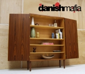 MID CENTURY DANISH MODERN MOGENSEN TEAK STORAGE BOOKCASE SHELF DISPLAY CREDENZA