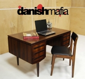 MID CENTURY DANISH MODERN ROSEWOOD EXECUTIVE OFFICE DESK CREDENZA EAMES