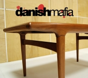 MID CENTURY DANISH MODERN TEAK VINTAGE Johannes Andersen DINING TABLE 2 LEAVES