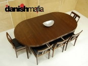 HUGE MID CENTURY DANISH MODERN ROSEWOOD Severin Hansen HASLEV DINING TABLE EAMES