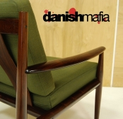 MID CENTURY DANISH MODERN ROSEWOOD GRETE JALK MODEL 118 EASY LOUNGE CHAIR EAMES