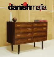 MID CENTURY DANISH MODERN Poul Hundevad ROSEWOOD CREDENZA DRESSER CHEST OF DRAWERS