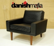 MID CENTURY DANISH MODERN HANS OLSEN ROSEWOOD & LEATHER LOUNGE EASY CHAIR EAMES