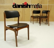 4 MID CENTURY DANISH MODERN ROSEWOOD Erik Buck Model #49 DINING CHAIRS