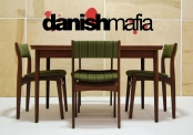 MID CENTURY DANISH MODERN TEAK COMPLETE DINING SET TABLE & 4 CHAIRS