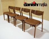 MID CENTURY DANISH MODERN ROSEWOOD P.E. JORGENSEN DINING CHAIRS EAMES