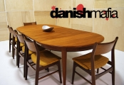MID CENTURY DANISH MODERN TEAK OMANN DINING TABLE EAMES