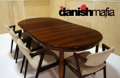 MID CENTURY DANISH MODERN Omann Jun Rosewood Dining Table