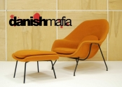 AUTHENTIC MID CENTURY MODERN Eero Saarinen KNOLL WOMB LOUNGE CHAIR OTTOMAN EAMES