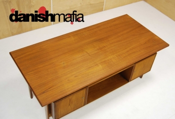 HUGE MID CENTURY DANISH MODERN TEAK KAI KRISTIANSEN OFFICE DESK 12