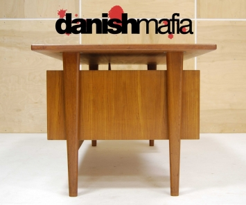 HUGE MID CENTURY DANISH MODERN TEAK KAI KRISTIANSEN OFFICE DESK 6