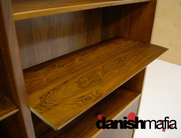 MID CENTURY DANISH MODERN ROSEWOOD BOOK SHELF DISPLAY CASE 8