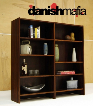 MID CENTURY DANISH MODERN ROSEWOOD OFFICE BOOKCASE 1