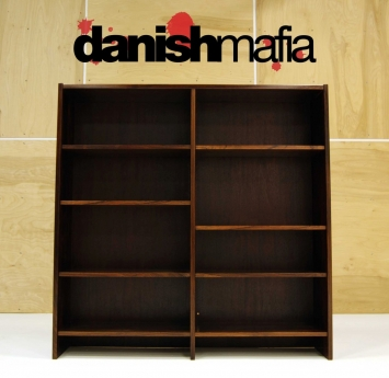 MID CENTURY DANISH MODERN ROSEWOOD OFFICE BOOKCASE 3