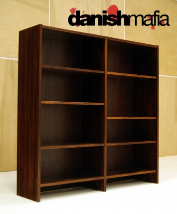 MID CENTURY DANISH MODERN ROSEWOOD OFFICE BOOKCASE 4