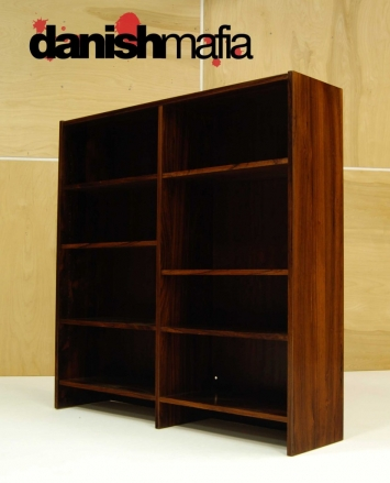 MID CENTURY DANISH MODERN ROSEWOOD OFFICE BOOKCASE 5
