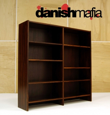 MID CENTURY DANISH MODERN ROSEWOOD OFFICE BOOKCASE 6