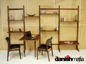 MID CENTURY DANISH MODERN TEAK CADO Wall Shelving System Display Unit Eames