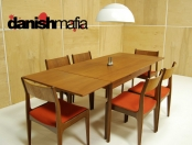 MID CENTURY DANISH MODERN TEAK DINING COMPLETE SET TABLE & 6 CHAIRS EAMES ERA