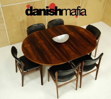 Mid Century Rosewood Dining Table 10