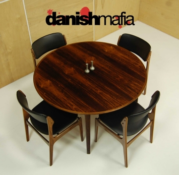 Mid Century Rosewood Dining Table 11