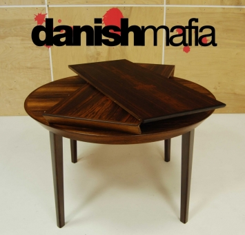 Mid Century Rosewood Dining Table 12