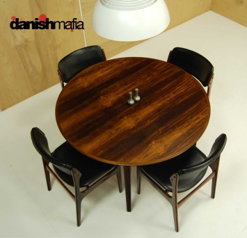 Mid Century Rosewood Dining Table 3