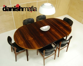 Mid Century Rosewood Dining Table 8