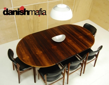 Mid Century Rosewood Dining Table 9