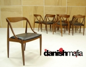 MID CENTURY DANISH MODERN SET OF 10 TEAK Johannes Andersen DINING CHAIRS