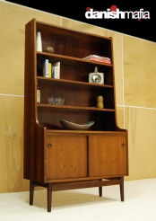 MID CENTURY DANISH MODERN ROSEWOOD HUTCH CREDENZA WALL UNIT DISPLAY CASE EAMES
